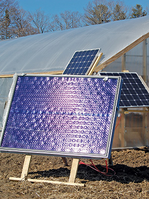 Solar panels to heat greenhouses